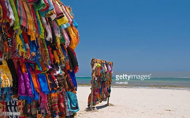 Colourful Kanga's (cloth) on Kenya's beach