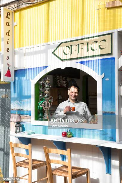 A colourful Lebanese Tapas food stall at Blackrock Market on 08th April 2017 in County Dublin Republic of Ireland A longrunning market with over 30...