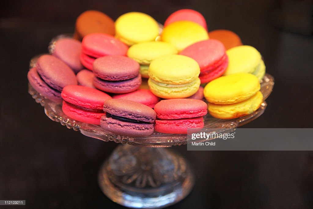 colourful macaroons for sale : Stock Photo