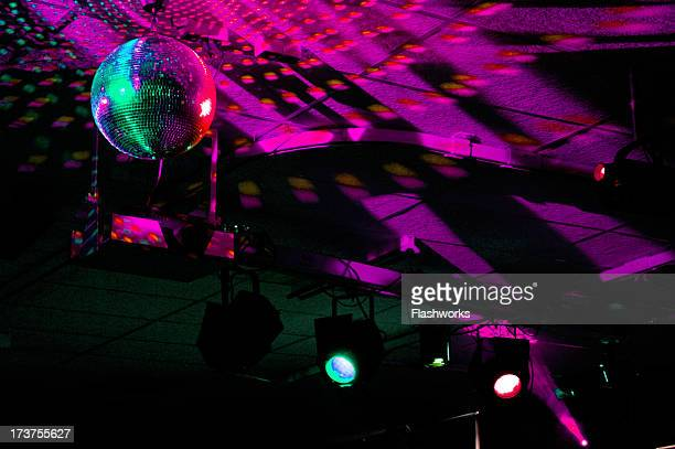 Colourful mirrorball in disco 2