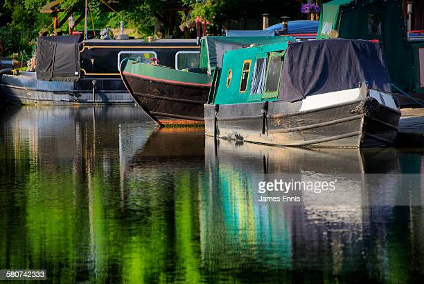 Colourful Narrow Boats, Macclesfield Canal