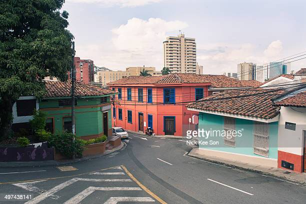 Colourful old town buildings, Cali, Colombia