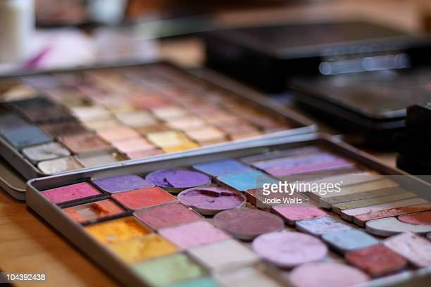 Colourful palette of eye make up