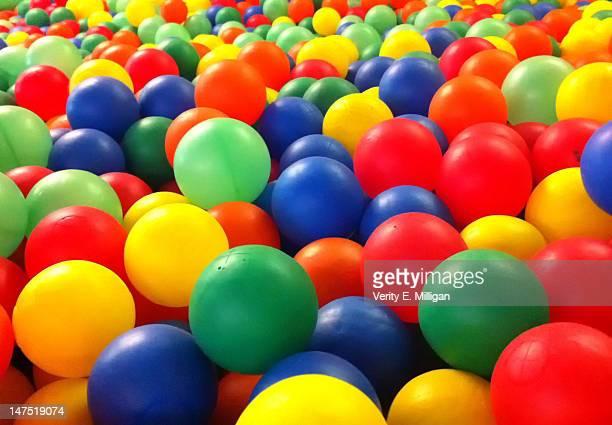 Colourful plastic balls