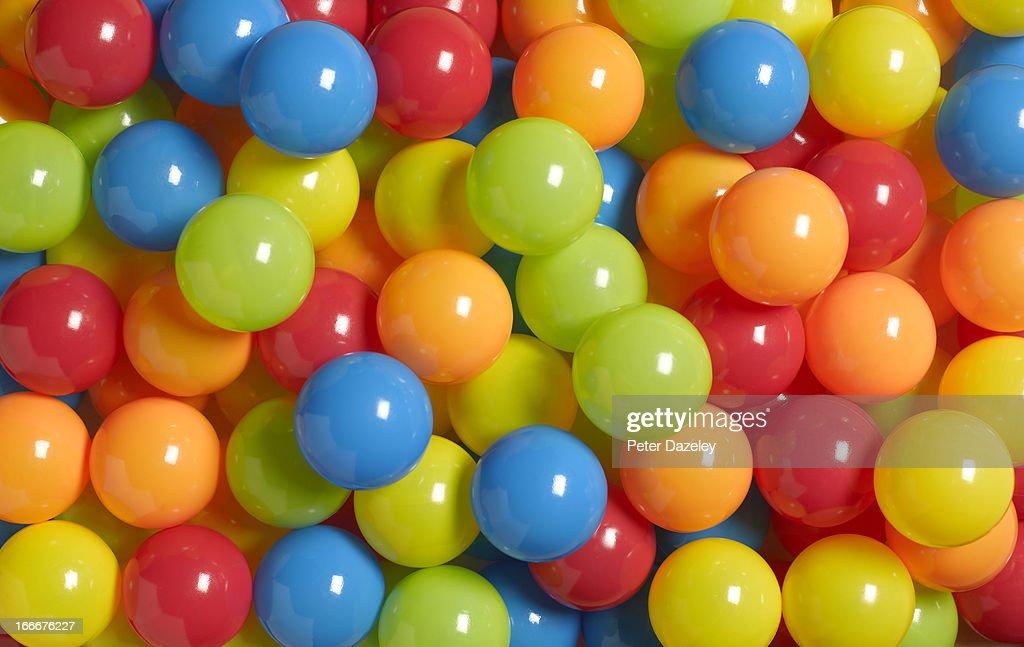 Colourful play balls