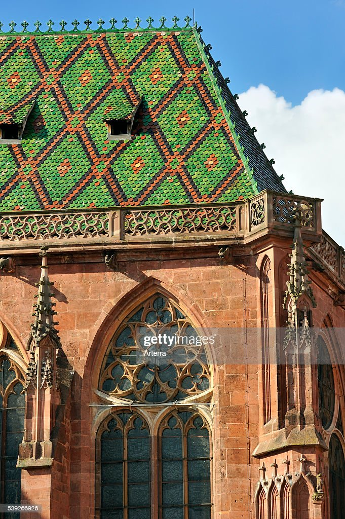 Colourful roof of the saintgeorges church 234 glise saintgeorges at
