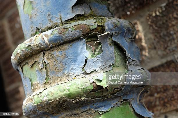 A colourful rusted drain pipe sessions for Digital Camera Magazine taken on April 7 2009