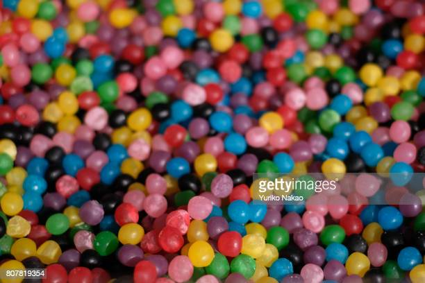 Colourful sweets are sold at a stall on June 23 in Paris France 'n
