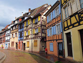 Colourful timber-framed houses