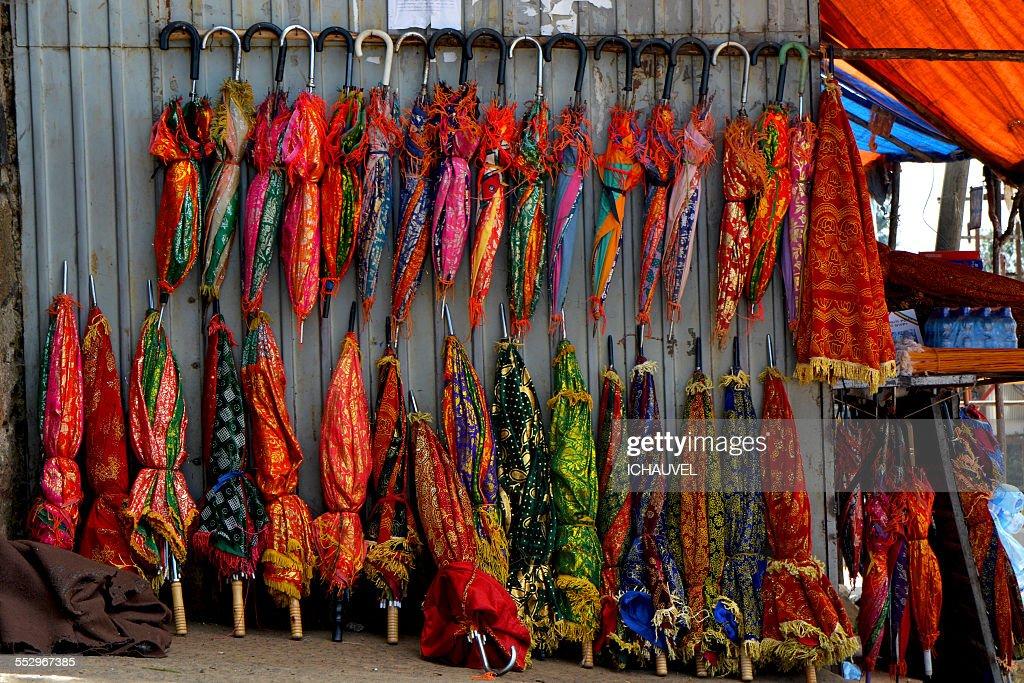 colourful umbrellas Ethiopia