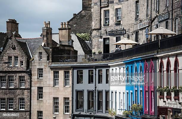 Colourful Victoria street, Edinburgh, Scotland