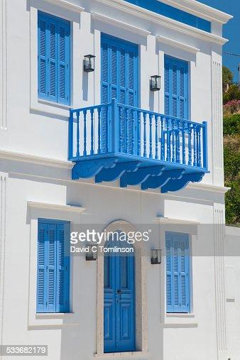 Colourful village house, Kastellorizo, Greece