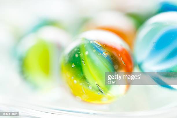 Colourful vintage glass marbles