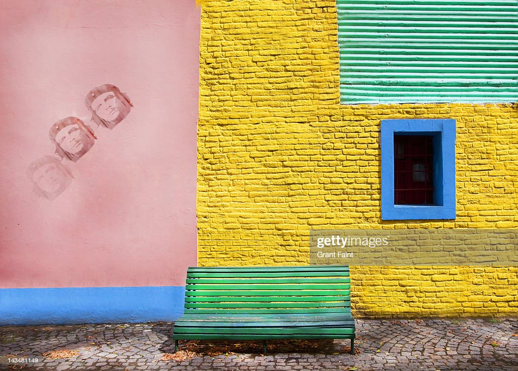 Colourful wall, Boca district, Buenos Aires : Stock Photo