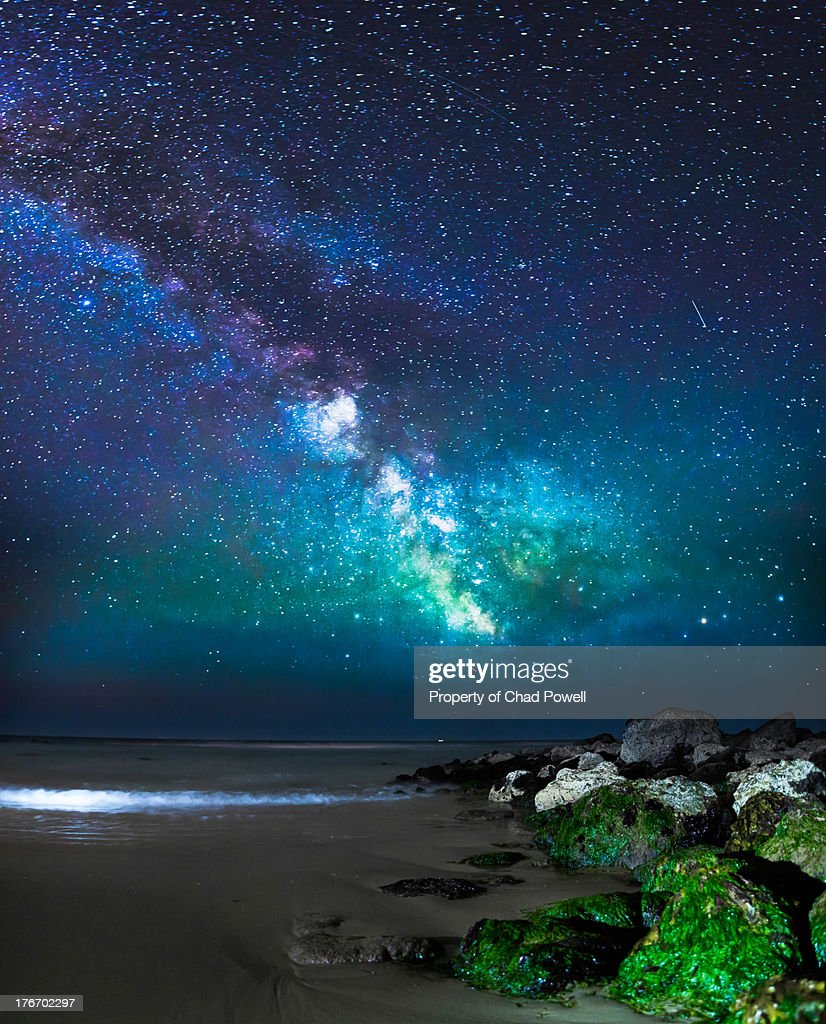 Colours of the Milky Way Galaxy : Stock Photo