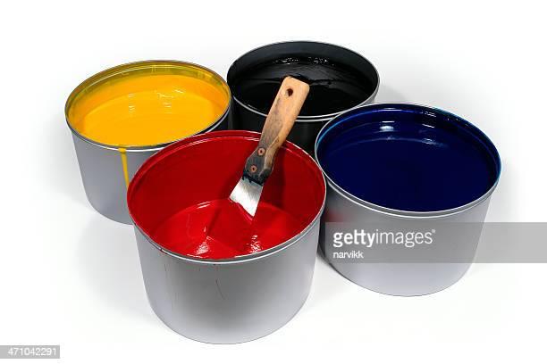 CMYK colori con Spatola & percorso di taglio