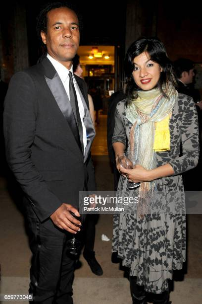 Colson Whitehead and Amber Qureshi attend The 2009 YOUNG LIONS PARTY at The New York Public Library on November 2 2009 in New York City
