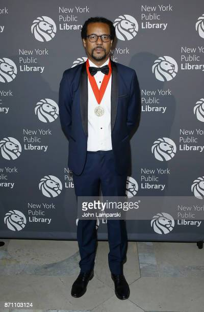Colson Whitehead attends the New York Public Library 2017 Library Lions Gala at the New York Public Library at the Stephen A Schwarzman Building on...