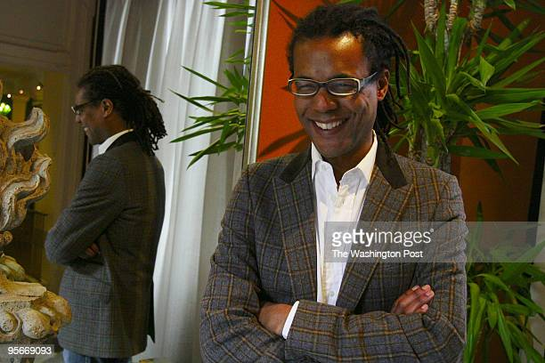 Colson Whitehead author of 'Apex Hides the Hurt' shown here at Hotel Monaco