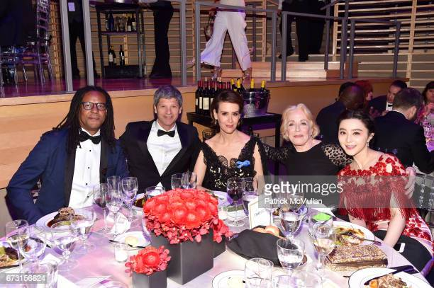 Colson Whitehead Eben Shapiro Sarah Paulson Holland Taylor and Fan Bingbing attend the 2017 TIME 100 Gala at Jazz at Lincoln Center on April 25 2017...