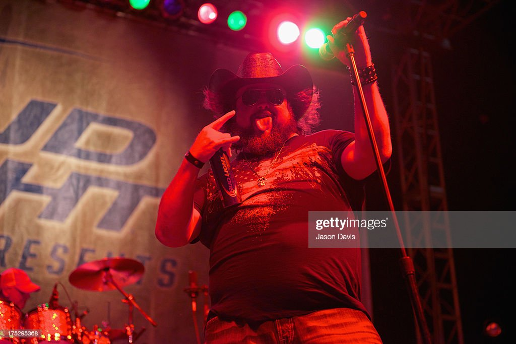 Colt Ford performs during Bud Light Music First 50/50/1 on August 1, 2013 in Nashville, Tennessee.