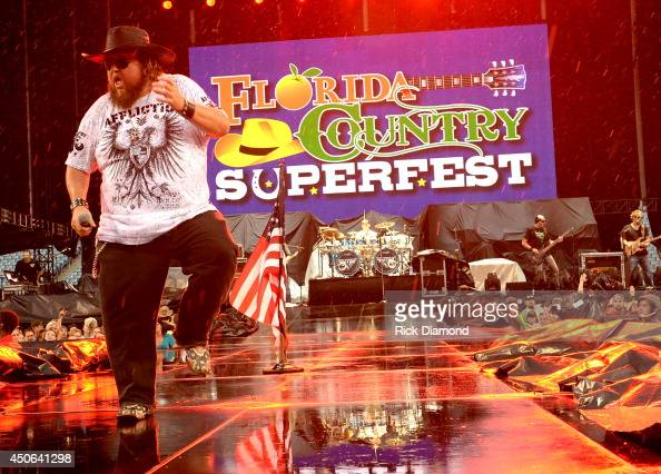 Colt Ford performs during the First Annual Florida Country Superfest Day 1 at EverBank Field on June 14 2014 in Jacksonville Florida