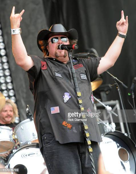 Colt Ford performs during the First Annual Rapids Jam Music Festival 2011 at the Carolina Crossroads Outdoor Amphitheate on June 18 2011 in Roanoke...