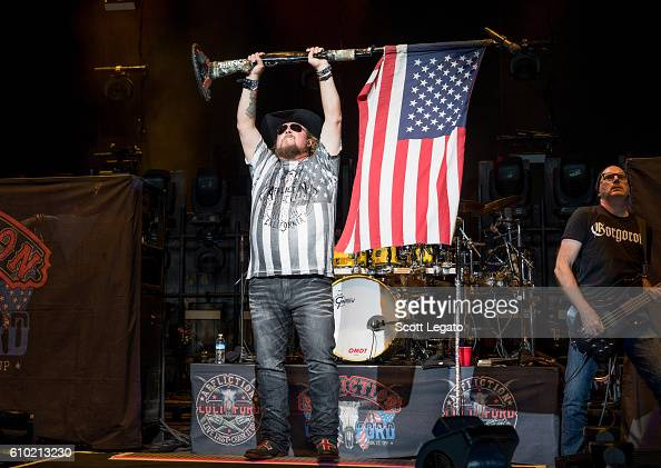 Colt Ford performs during the Take It Outside Tour at DTE Energy Music Theater on September 24 2016 in Clarkston Michigan