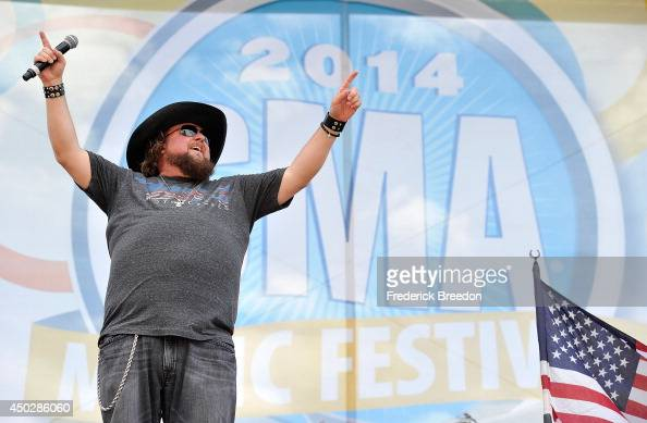 Colt Ford performs on the Chevy Riverfront Stage at the 2014 CMA Festival on June 8 2014 in Nashville Tennessee
