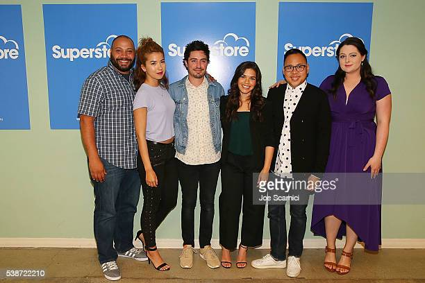 Colton Dunn Nichole Bloom Ben Feldman America Ferrera Nico Santos and Lauren Ash arrive at FYC at UCB for NBC's 'Superstore' at UCB Sunset Theater on...