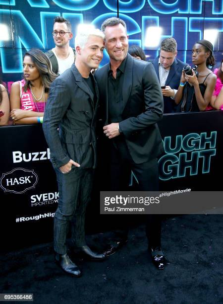 Colton Haynes and Jeff Leatham attend the 'Rough Night' New York Premiere on June 12 2017 in New York City