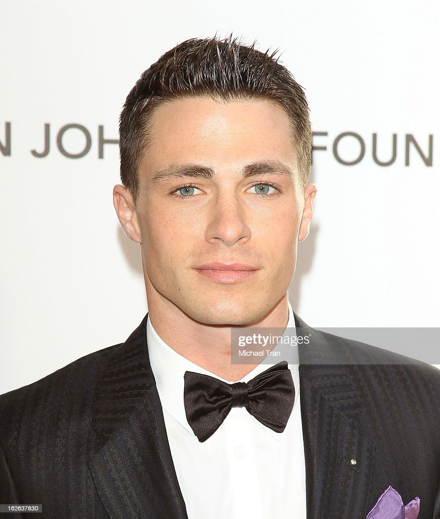 Colton Haynes arrives at the 21st Annual Elton John AIDS Foundation Academy Awards viewing party held at West Hollywood Park on February 24, 2013 in West Hollywood, California.