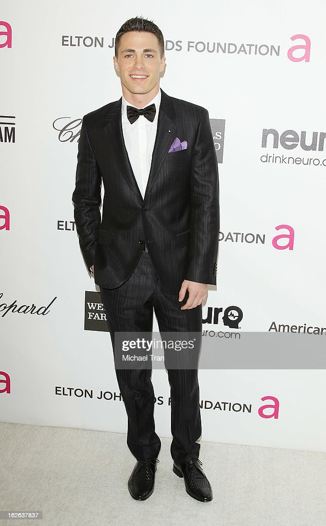 <a gi-track='captionPersonalityLinkClicked' href=/galleries/search?phrase=Colton+Haynes&family=editorial&specificpeople=4282136 ng-click='$event.stopPropagation()'>Colton Haynes</a> arrives at the 21st Annual Elton John AIDS Foundation Academy Awards viewing party held at West Hollywood Park on February 24, 2013 in West Hollywood, California.