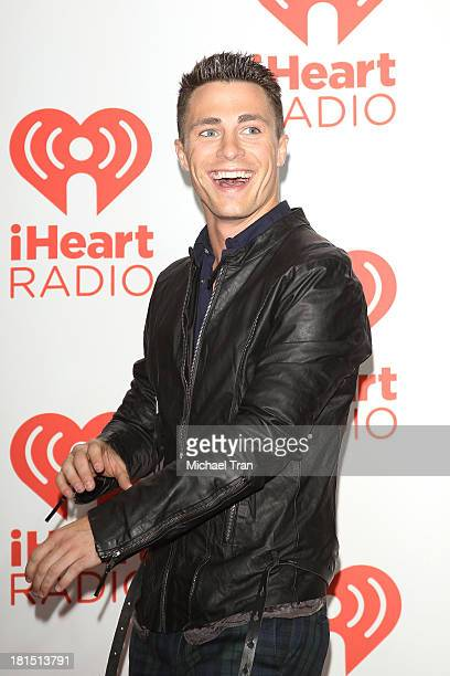 Colton Haynes arrives at the iHeartRadio Music Festival press room Day 2 held on September 21 2013 in Las Vegas Nevada