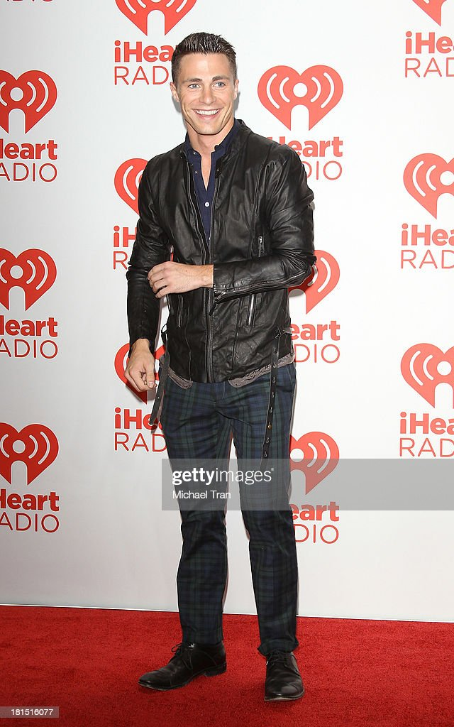 <a gi-track='captionPersonalityLinkClicked' href=/galleries/search?phrase=Colton+Haynes&family=editorial&specificpeople=4282136 ng-click='$event.stopPropagation()'>Colton Haynes</a> arrives at the iHeartRadio Music Festival - press room - Day 2 held on September 21, 2013 in Las Vegas, Nevada.