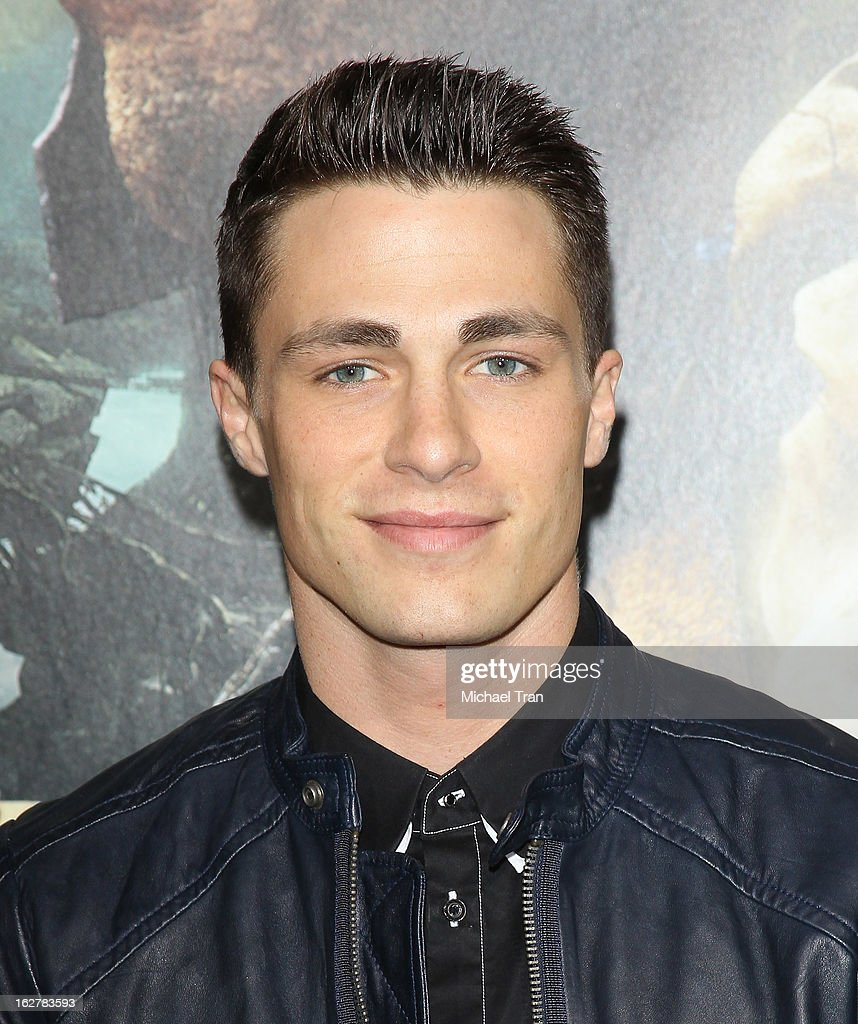 <a gi-track='captionPersonalityLinkClicked' href=/galleries/search?phrase=Colton+Haynes&family=editorial&specificpeople=4282136 ng-click='$event.stopPropagation()'>Colton Haynes</a> arrives at the Los Angeles premiere of 'Jack The Giant Slayer' held at TCL Chinese Theatre on February 26, 2013 in Hollywood, California.