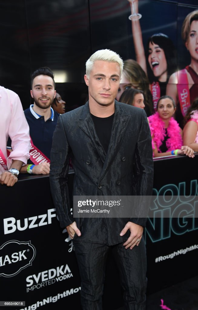 Colton Haynes attends New York Premiere of Sony's ROUGH NIGHT presented by SVEDKA Vodka at AMC Lincoln Square Theater on June 12, 2017 in New York City.