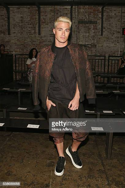 Colton Haynes attends Public School's Women's and Men's Spring 2017 Collection at Cedar Lake on June 7 2016 in New York City