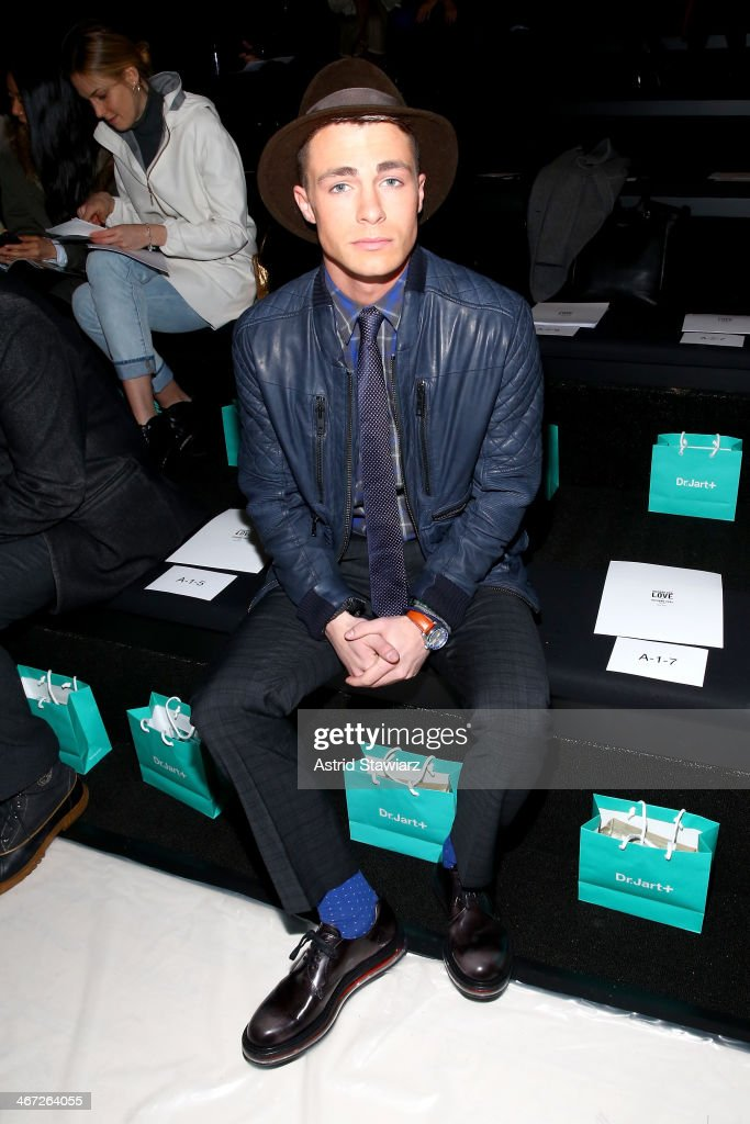 <a gi-track='captionPersonalityLinkClicked' href=/galleries/search?phrase=Colton+Haynes&family=editorial&specificpeople=4282136 ng-click='$event.stopPropagation()'>Colton Haynes</a> attends Richard Chai fashion show during Mercedes-Benz Fashion Week Fall 2014 at The Salon at Lincoln Center on February 6, 2014 in New York City.