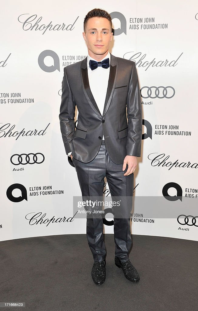 Colton Haynes attends the 15th Annual White Tie and Tiara Ball to Benefit Elton John AIDS Foundation in Association with Chopard at Woodside on June 27, 2013 in Windsor, England. No sales to online/digital media worldwide until the 14th of July. No sales before July 14th, 2013 in UK, Spain, Switzerland, Mexico, Dubai, Russia, Serbia, Bulgaria, Turkey, Argentina, Chile, Peru, Ecuador, Colombia, Venezuela, Puerto Rico, Dominican Republic, Greece, Canada, Thailand, Indonesia, Morocco, Malaysia, India, Pakistan, Nigeria. All pictures are for editorial use only and mention of 'Chopard' and 'The Elton John Aids Foundation' are compulsory. No sales ever to Ok, Now, Closer, Reveal, Heat, Look or Grazia magazines in the United Kingdom. No sales ever to any jewellers or watchmakers other than Chopard