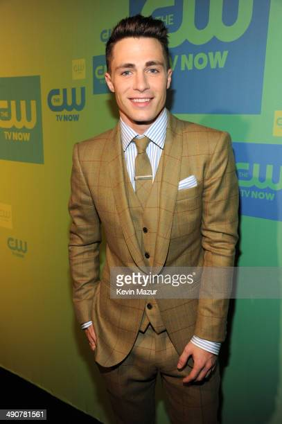 Colton Haynes attends The CW Network's 2014 Upfront at The London Hotel on May 15 2014 in New York City