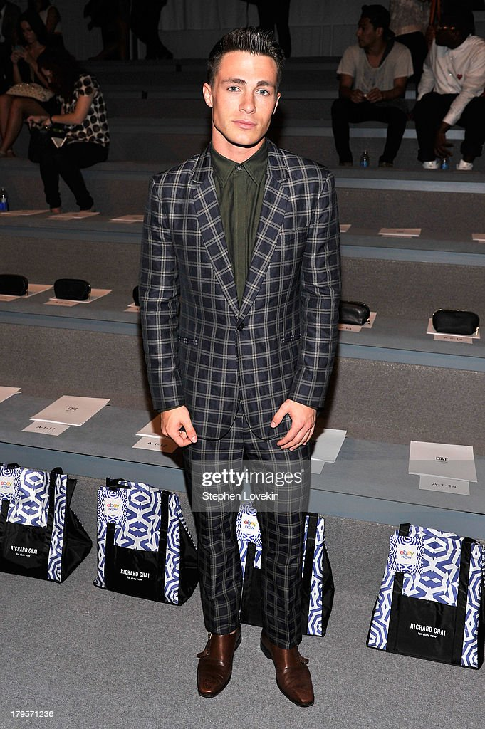 Colton Haynes attends the Richard Chai Spring 2014 fashion show during Mercedes-Benz Fashion Week at The Stage at Lincoln Center on September 5, 2013 in New York City.