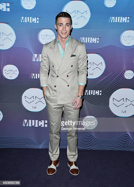 Colton Haynes poses in the press room at the 2014 MuchMusic Video Awards at MuchMusic HQ on June 15 2014 in Toronto Canada