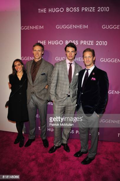Colton Haynes Teddy Sears Dan Duderstadt and Ward Simmons attend THE HUGO BOSS PRIZE Annual Party 2010 Arrivals at Solomon R Guggenheim Museum NYC on...