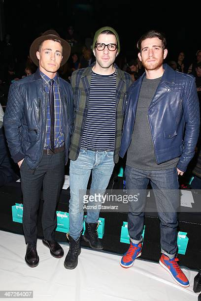 Colton Haynes Zachary Quinto and Bryan Greenberg attend Richard Chai fashion show during MercedesBenz Fashion Week Fall 2014 at The Salon at Lincoln...