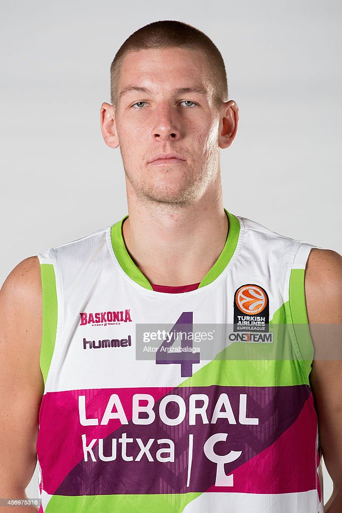 <a gi-track='captionPersonalityLinkClicked' href=/galleries/search?phrase=Colton+Iverson&family=editorial&specificpeople=5663882 ng-click='$event.stopPropagation()'>Colton Iverson</a>, #4 poses during the Laboral Kutxa Vitoria 2014/2015 Turkish Airlines Euroleague Basketball Media Day at Fernando Buesa Arena on October 7, 2014 in Vitoria-Gasteiz, Spain.
