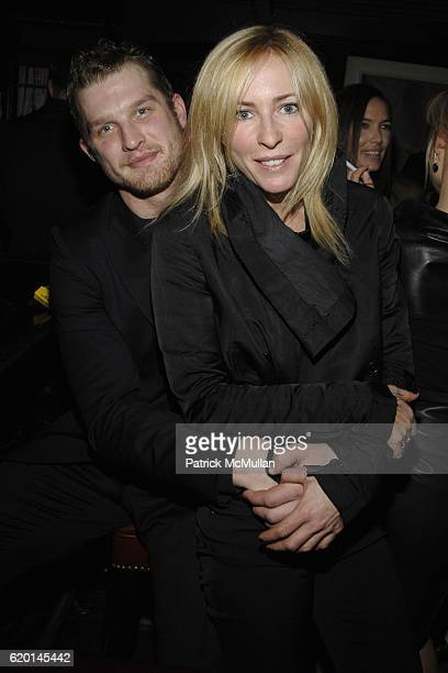 Colton Orr and Lauryn Flynn attend CALVIN KLEIN COLLECTION Fall 2008 Post Show Dinner at Waverly Inn on February 7 2008 in New York City