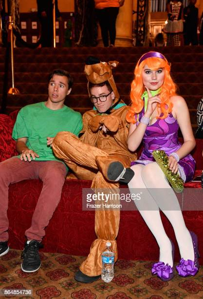 Colton Shires Justin Tinucci and Serena Laurel at the Dream Halloween 2017 Costume Party Benefitting Starlight Children's Foundation presented by...