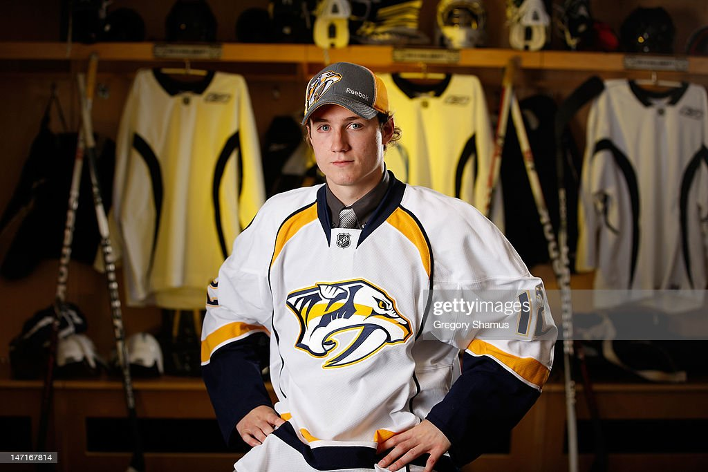 Colton Sissons, 50th overall pick by the Nashville Predators, poses for a portrait during the 2012 NHL Entry Draft at Consol Energy Center on June 23, 2012 in Pittsburgh, Pennsylvania.