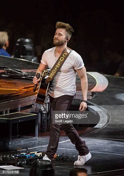 Colton Swon of the Swon Brother performs during The Storyteller Tour 2016 at The Palace of Auburn Hills on March 22 2016 in Auburn Hills Michigan